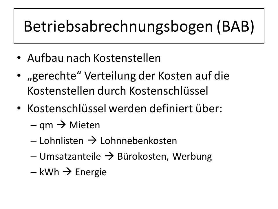 Betriebsabrechnungsbogen (BAB)