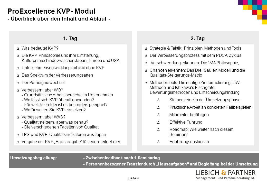 ProExcellence KVP- Modul - Überblick über den Inhalt und Ablauf -