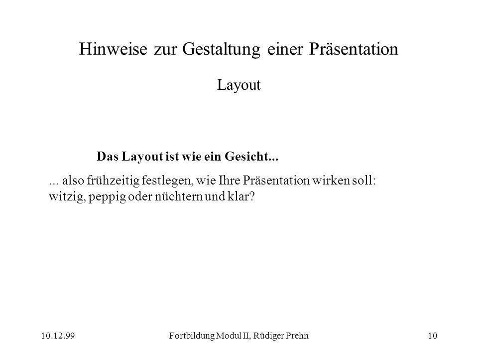 Hinweise zur Gestaltung einer Präsentation