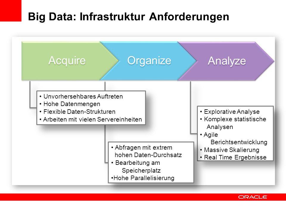 Big Data: Infrastruktur Anforderungen