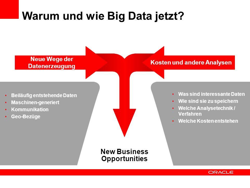 Warum und wie Big Data jetzt