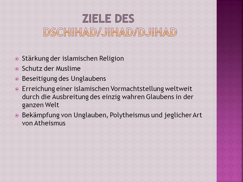 Ziele des Dschihad/Jihad/Djihad