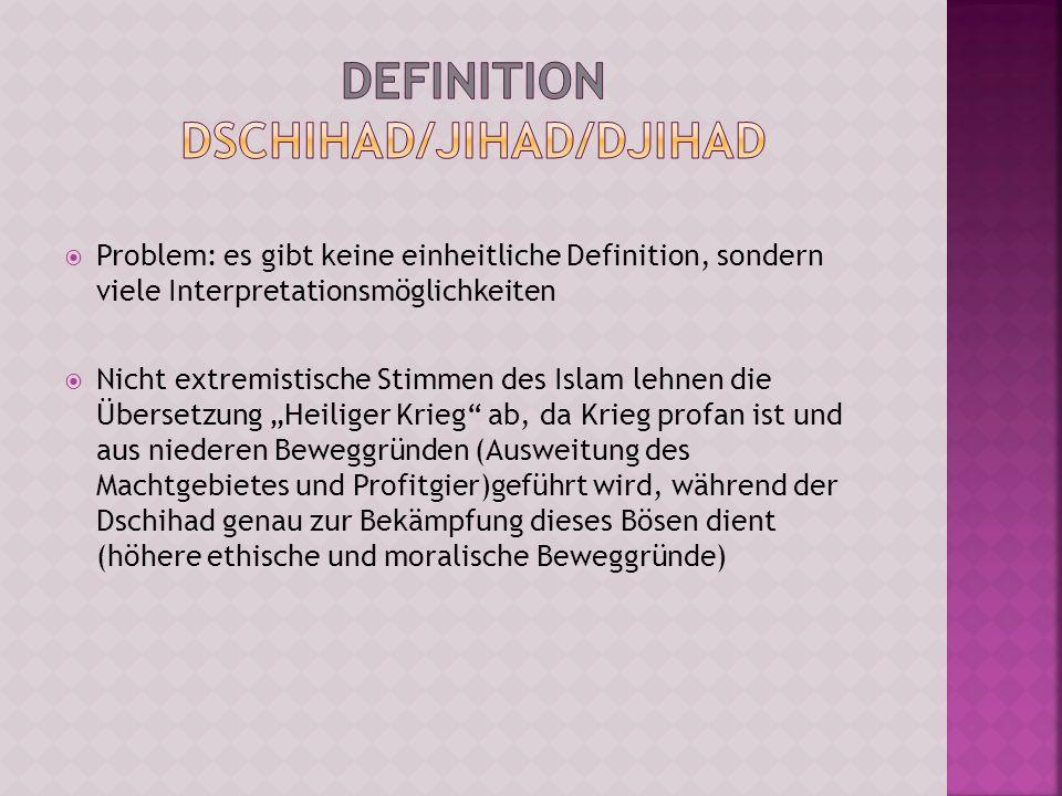 Definition Dschihad/Jihad/Djihad