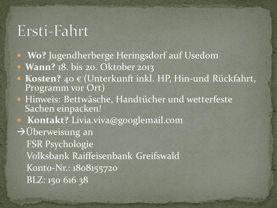 Ersti-Fahrt Wo Jugendherberge Heringsdorf auf Usedom