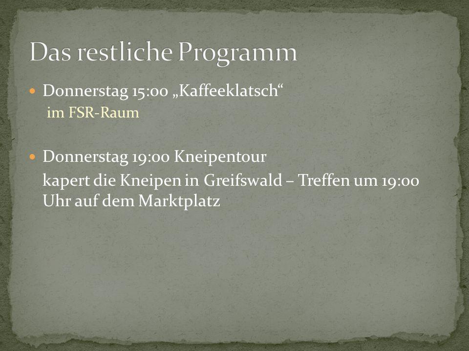 Das restliche Programm