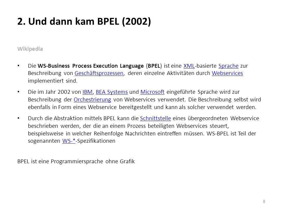 2. Und dann kam BPEL (2002) Wikipedia