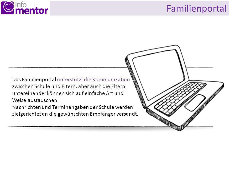 Familienportal Das Familienportal unterstützt die Kommunikation