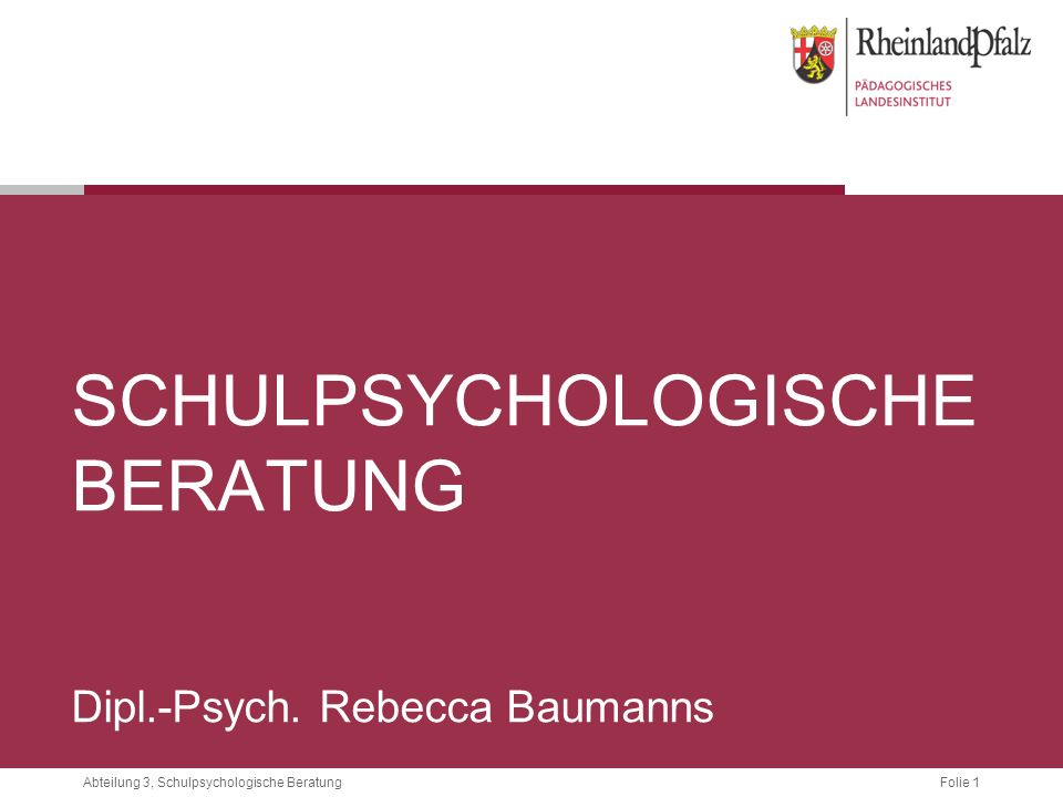 Schulpsychologische Beratung