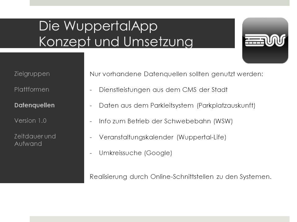 Die WuppertalApp Konzept und Umsetzung