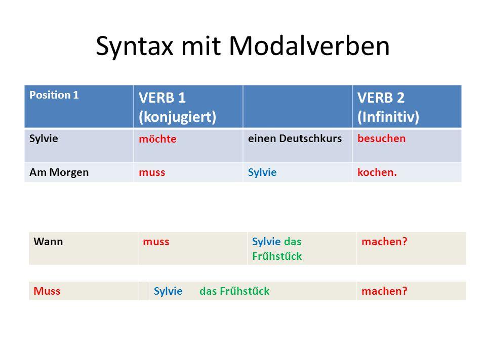 Syntax mit Modalverben