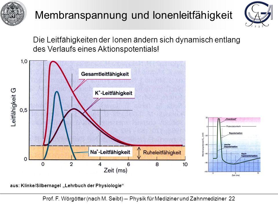 Membranspannung und Ionenleitfähigkeit