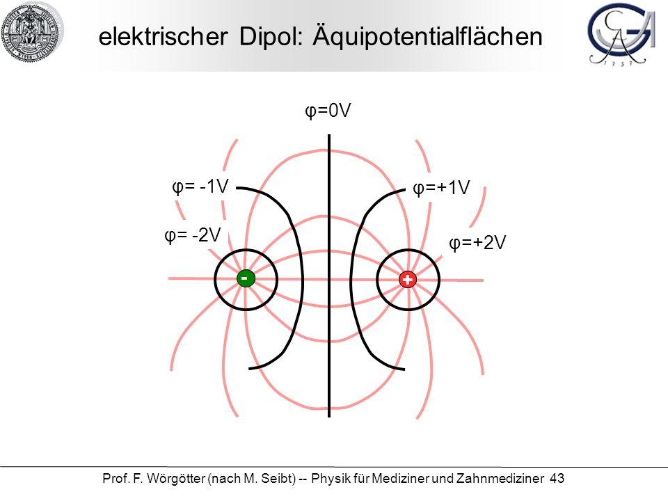 elektrischer Dipol: Äquipotentialflächen