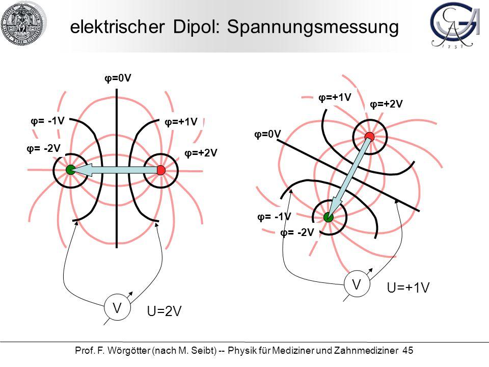 elektrischer Dipol: Spannungsmessung