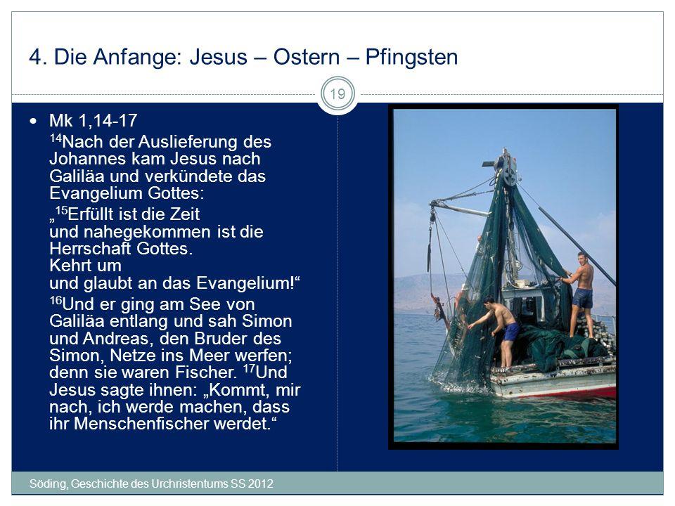 4. Die Anfange: Jesus – Ostern – Pfingsten