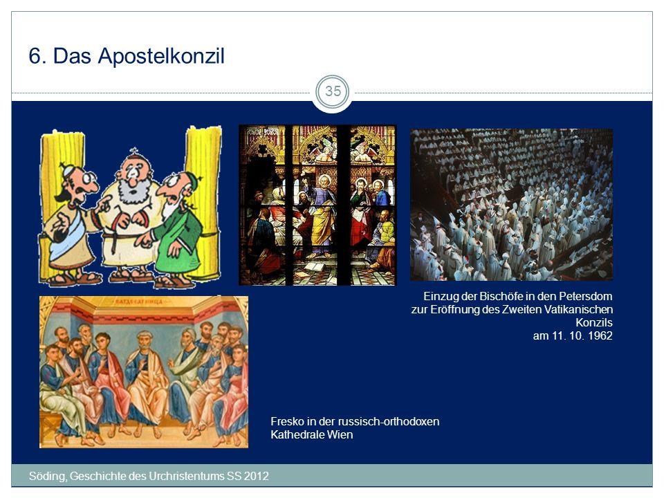 6. Das Apostelkonzil Einzug der Bischöfe in den Petersdom zur Eröffnung des Zweiten Vatikanischen Konzils am 11. 10. 1962.