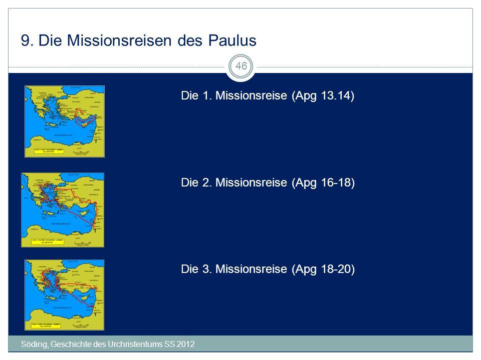 9. Die Missionsreisen des Paulus