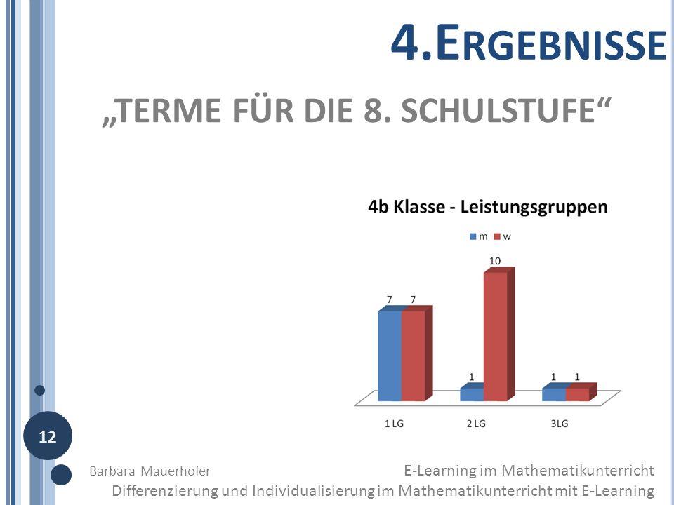 """4.Ergebnisse """"TERME FÜR DIE 8. SCHULSTUFE 12"""