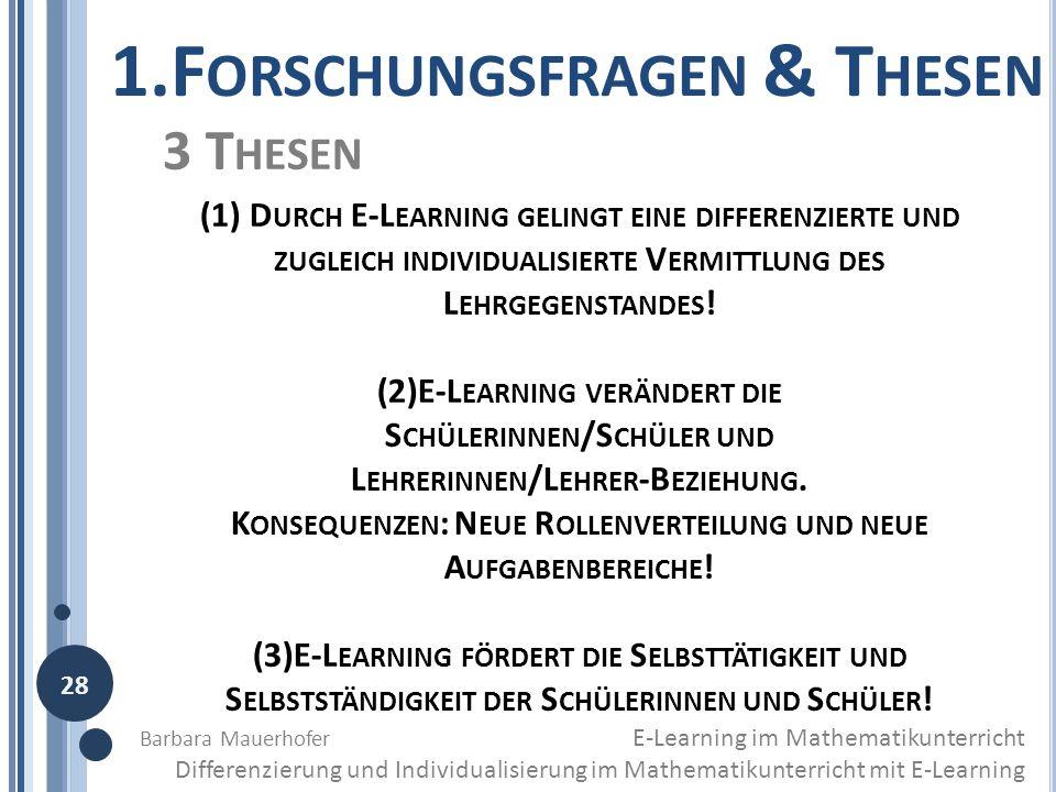 1.Forschungsfragen & Thesen