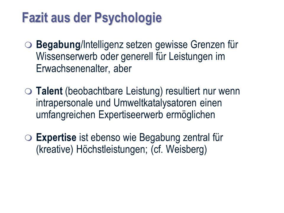 Fazit aus der Psychologie