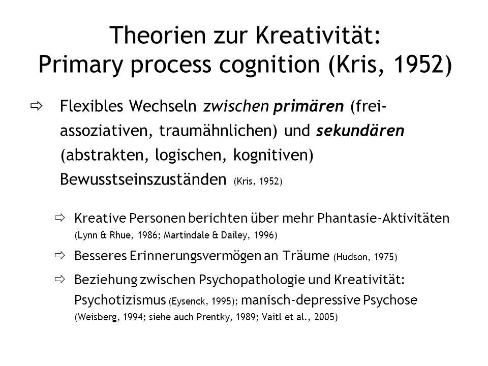 Theorien zur Kreativität: Primary process cognition (Kris, 1952)
