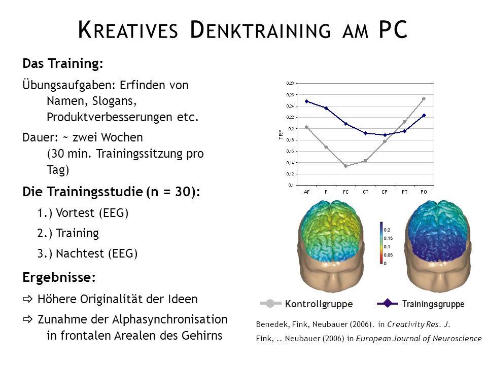 Kreatives Denktraining am PC