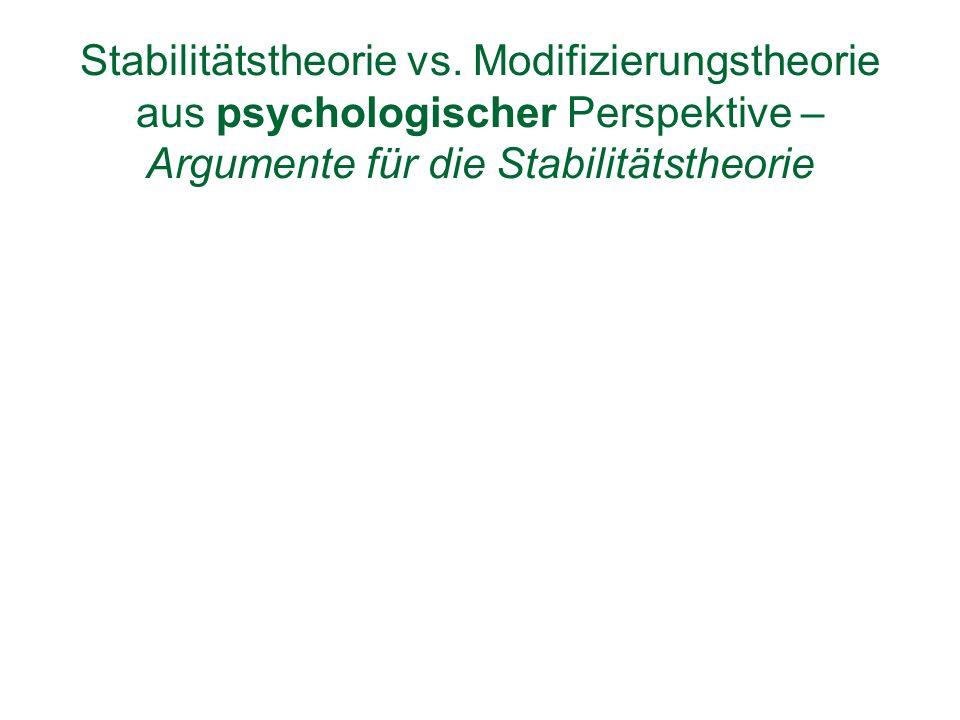 Stabilitätstheorie vs