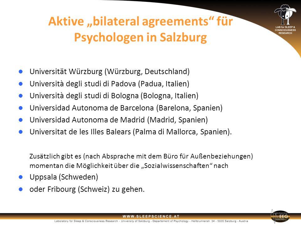 """Aktive """"bilateral agreements für Psychologen in Salzburg"""
