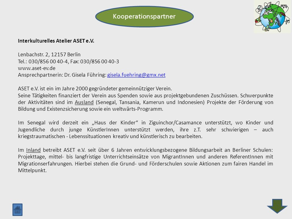 Kooperationspartner Interkulturelles Atelier ASET e.V.