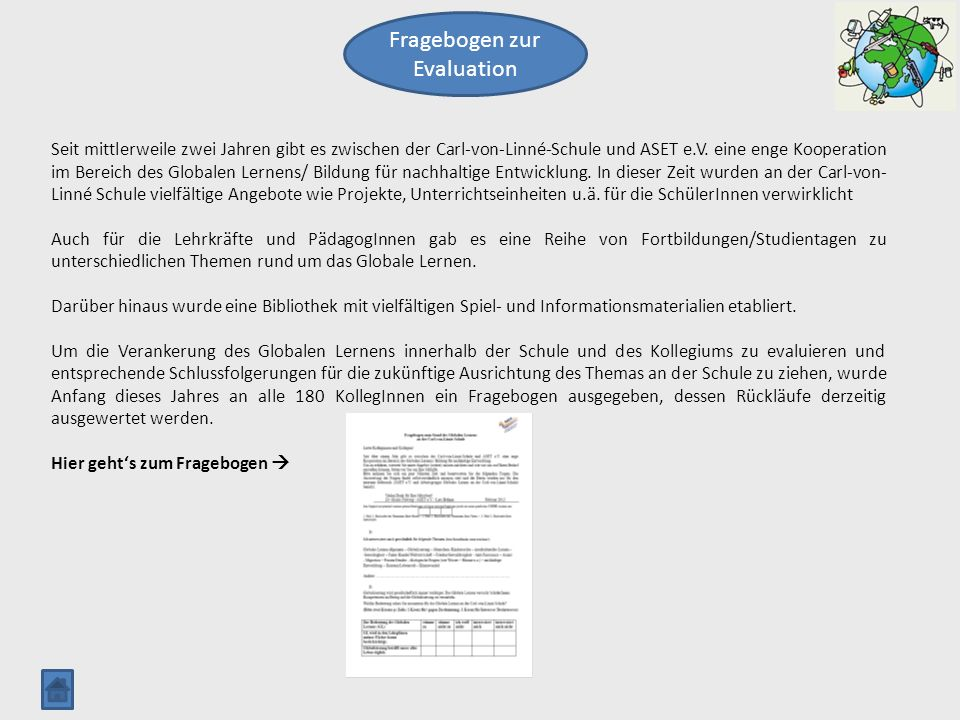 Fragebogen zur Evaluation