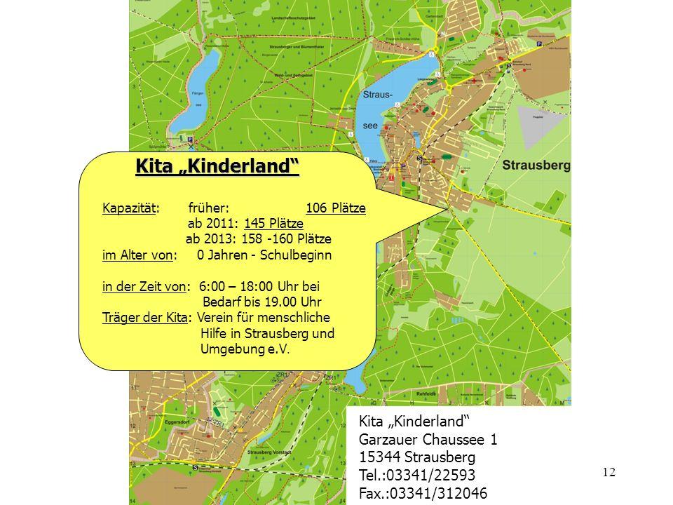 "Kita ""Kinderland Kita ""Kinderland Garzauer Chaussee 1"