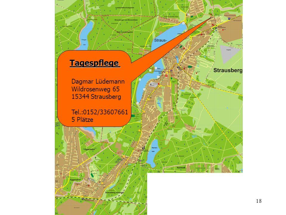 Tagespflege Dagmar Lüdemann Wildrosenweg 65 15344 Strausberg