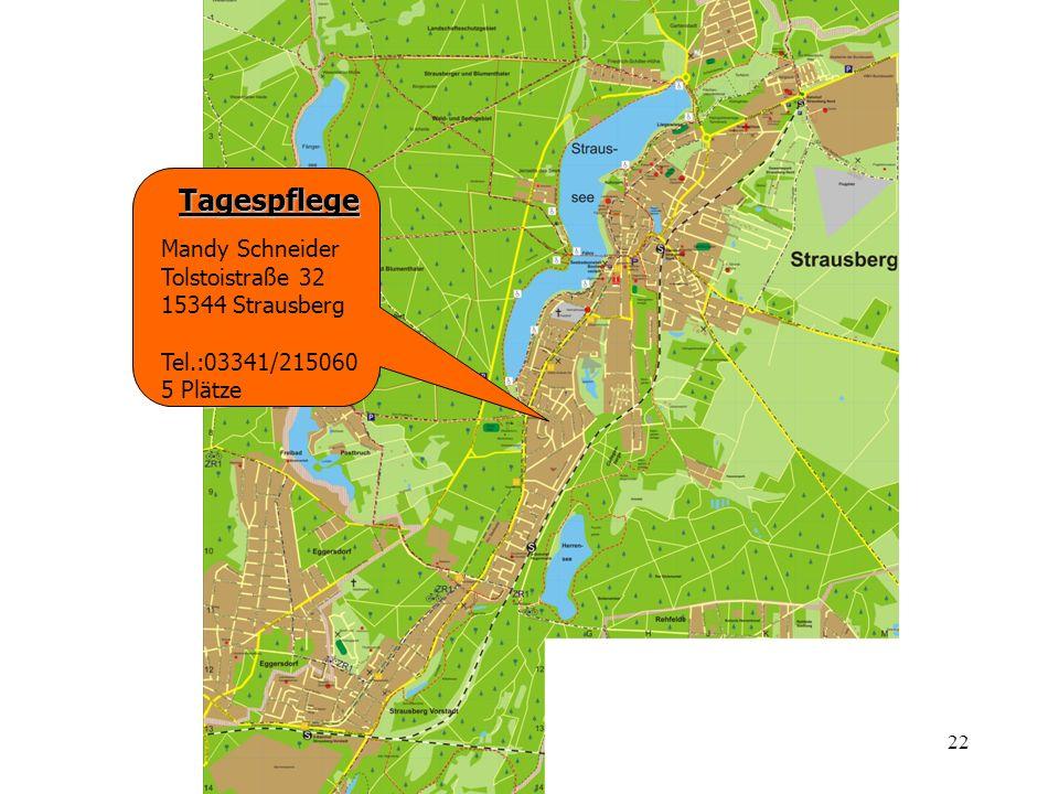 Tagespflege Mandy Schneider Tolstoistraße 32 15344 Strausberg