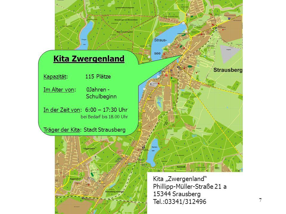 """Kita Zwergenland Kita """"Zwergenland Phillipp-Müller-Straße 21 a"""