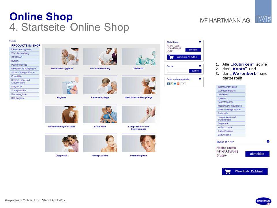 4. Startseite Online Shop