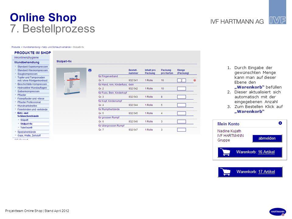 Online Shop 7. Bestellprozess