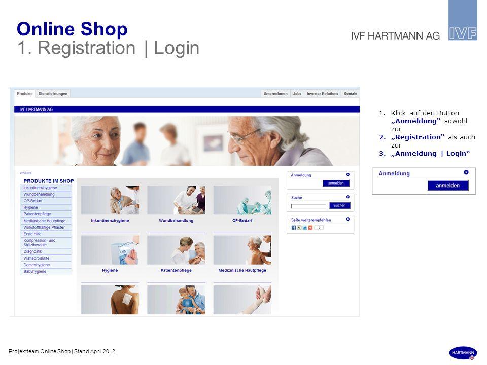 Online Shop 1. Registration | Login