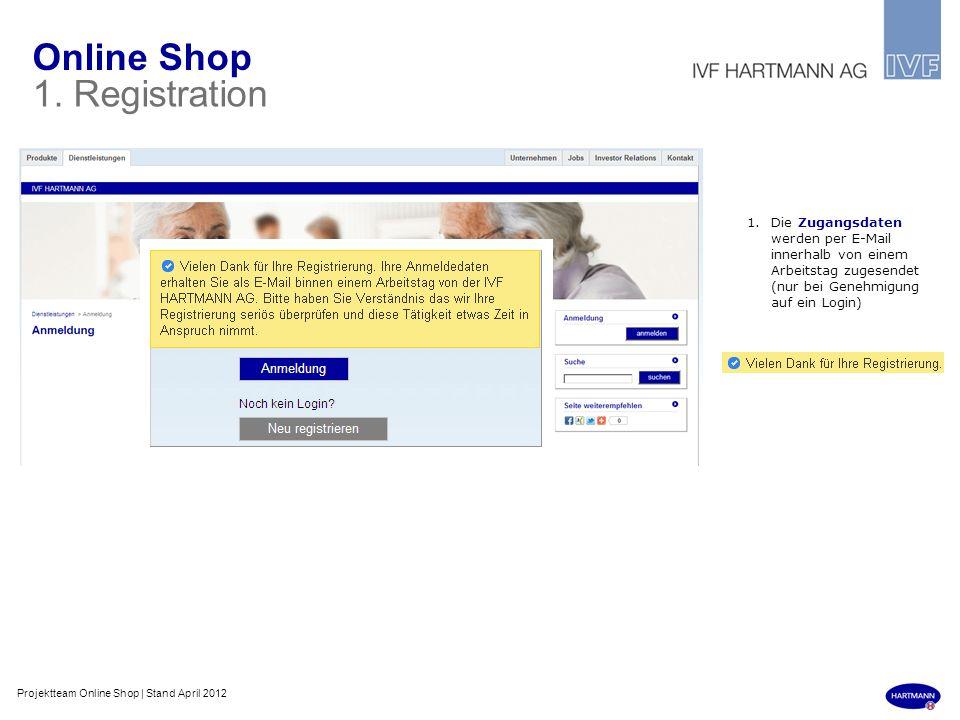 Online Shop 1. Registration