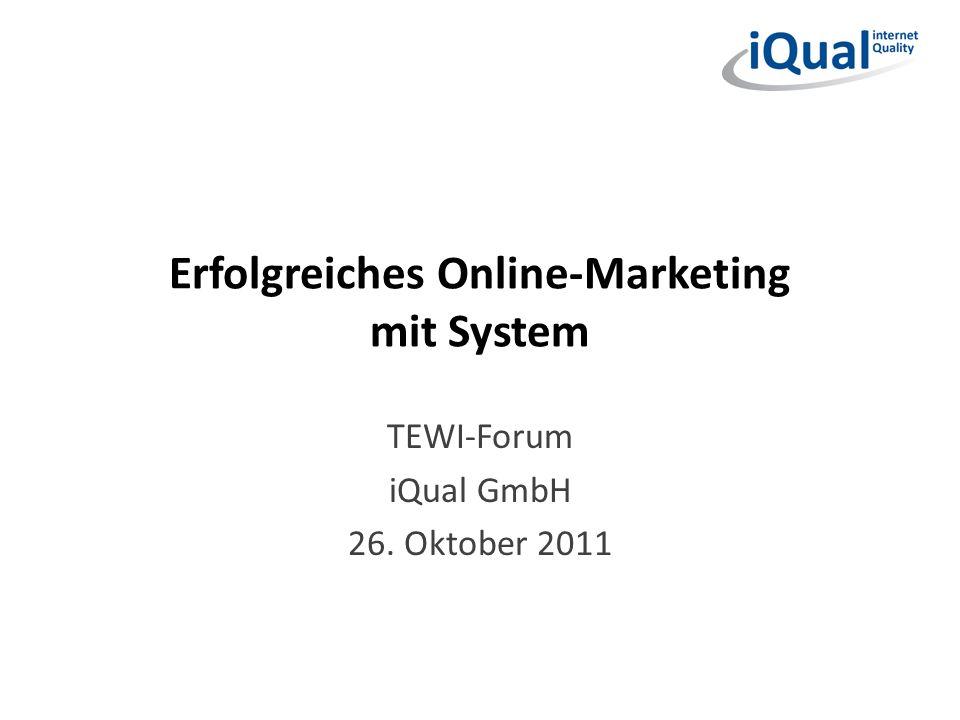 Erfolgreiches Online-Marketing mit System