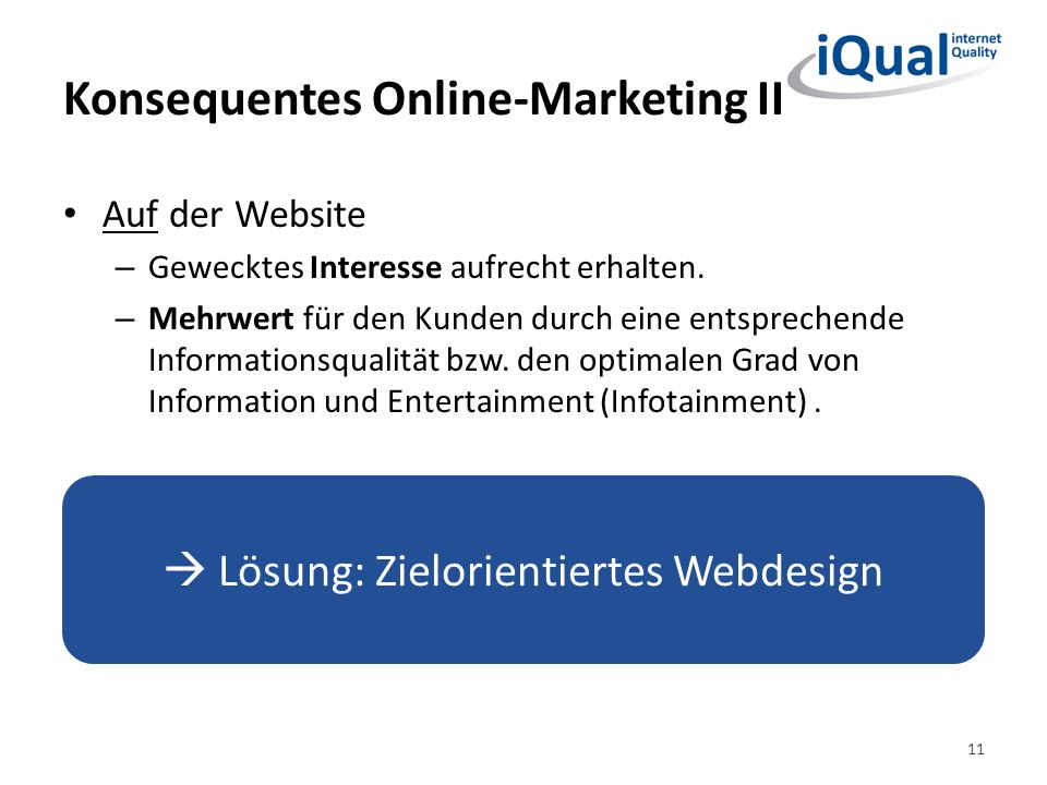 Konsequentes Online-Marketing II