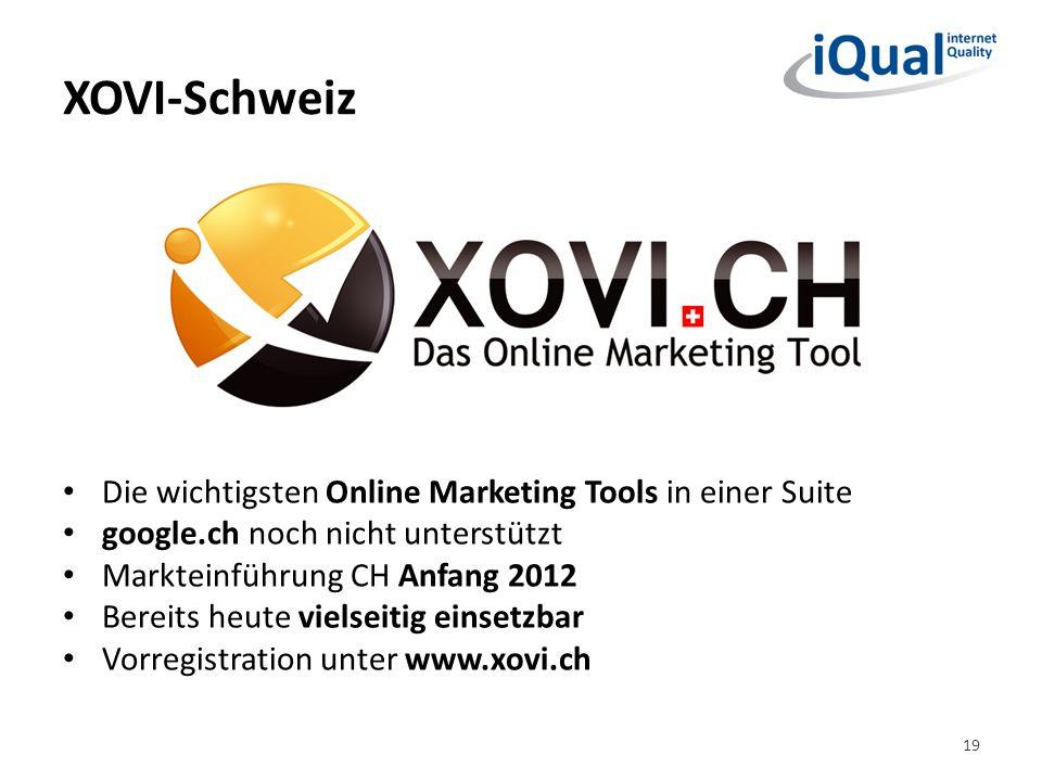 XOVI-Schweiz Die wichtigsten Online Marketing Tools in einer Suite