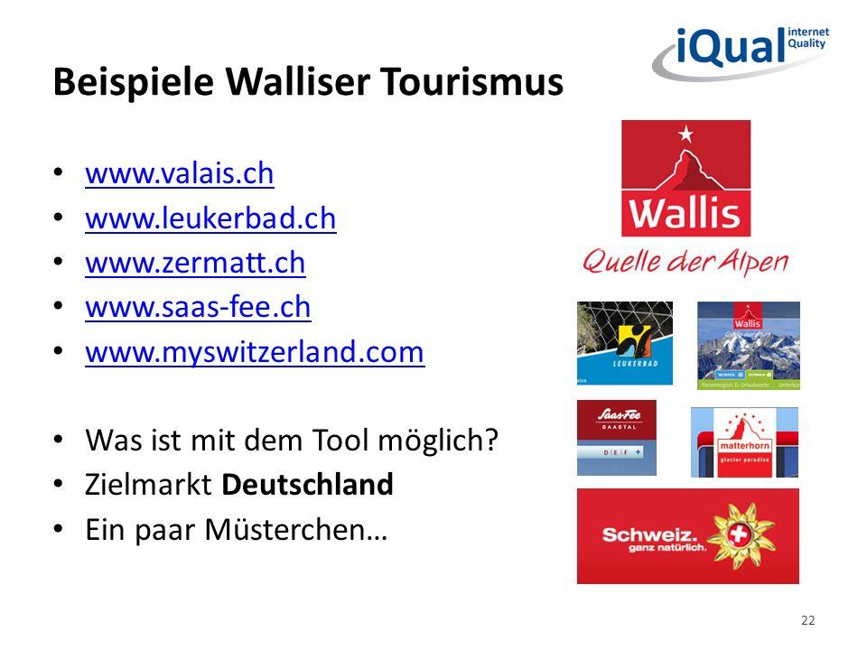 Beispiele Walliser Tourismus