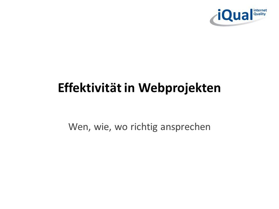 Effektivität in Webprojekten