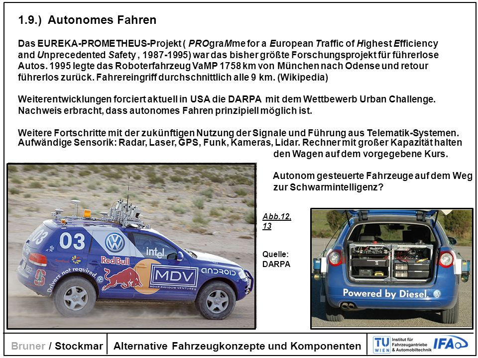 1.9.) Autonomes Fahren Bruner / Stockmar