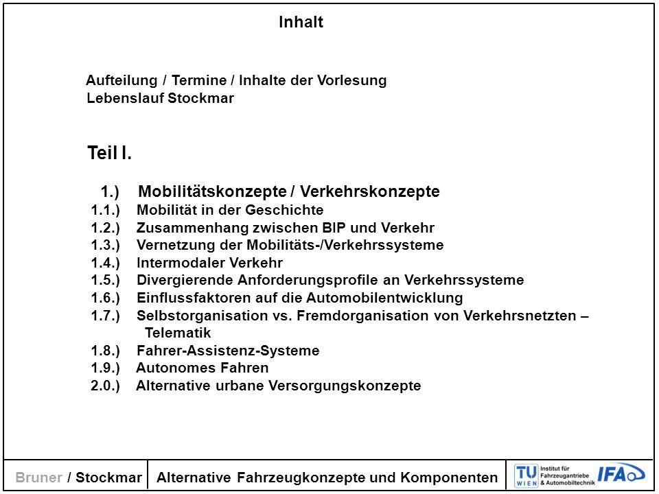 1.) Mobilitätskonzepte / Verkehrskonzepte
