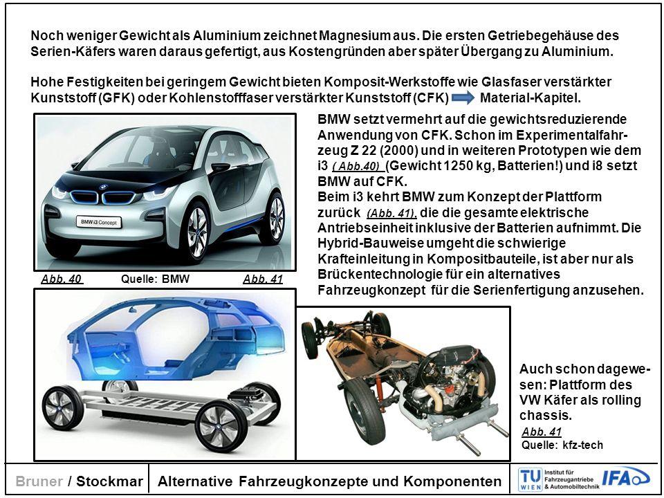 Alternative Fahrzeugkonzepte und Komponenten