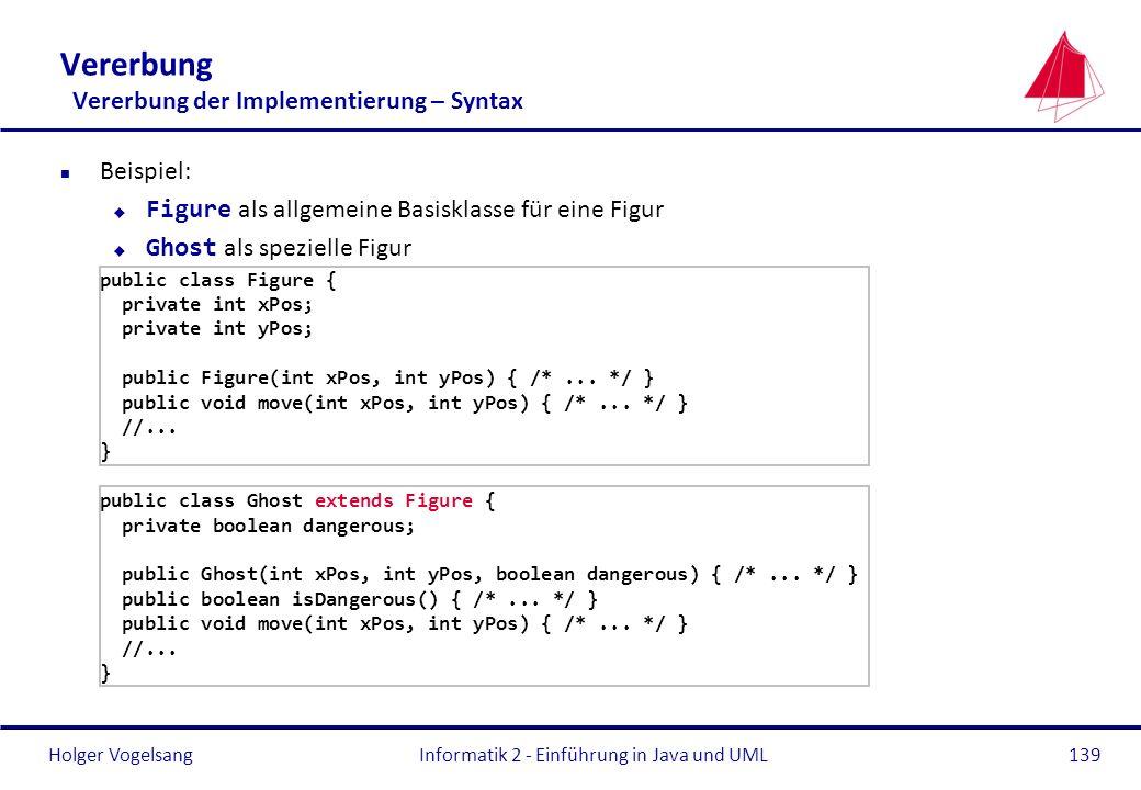 Vererbung Vererbung der Implementierung – Syntax