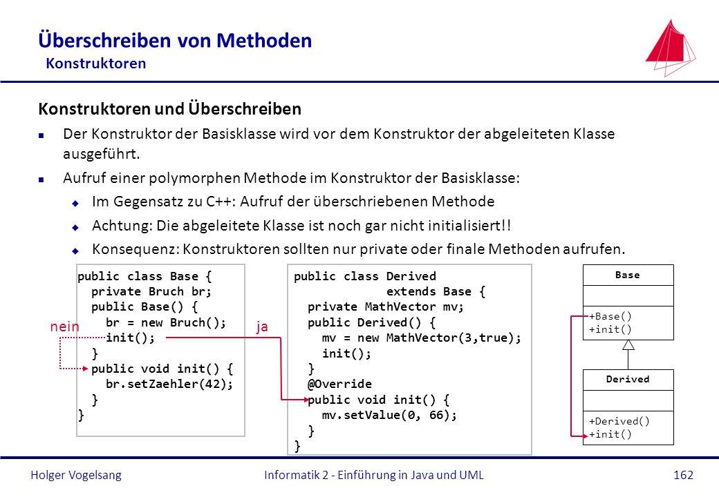 Überschreiben von Methoden Konstruktoren