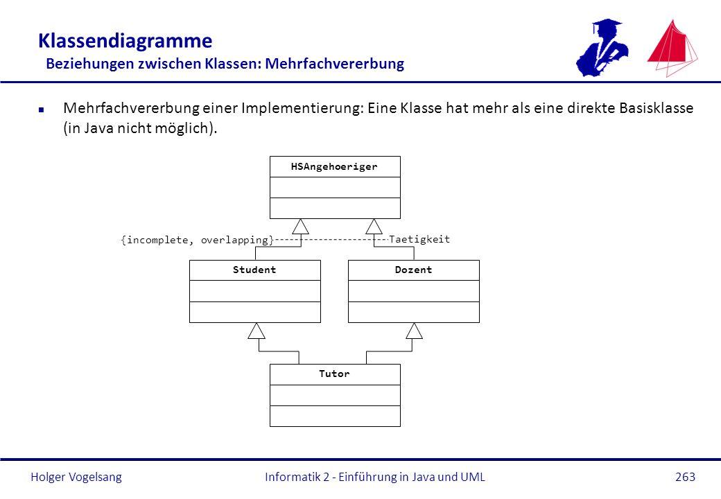 Klassendiagramme Beziehungen zwischen Klassen: Mehrfachvererbung