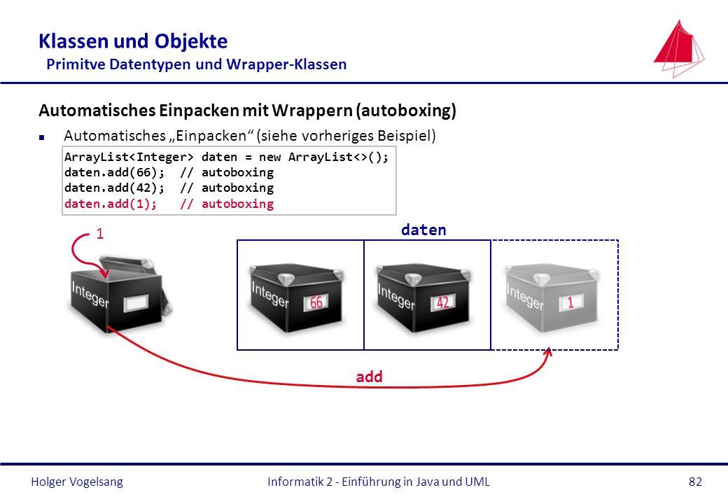 Klassen und Objekte Primitve Datentypen und Wrapper-Klassen