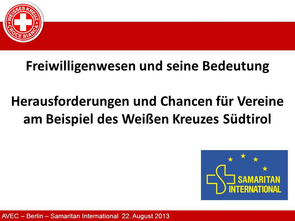Freiwilligenwesen und seine Bedeutung Herausforderungen und Chancen für Vereine am Beispiel des Weißen Kreuzes Südtirol